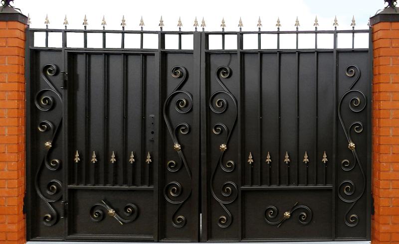 ворота фото со встроенной калиткой